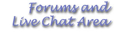 Forums and Live Chat Area